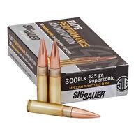 SIG Sauer Elite Performance Match 300 BLK 125 Grain Supersonic OTM Rifle Ammo (20)