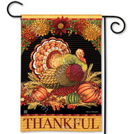 BreezeArt Thankful Turkey Decorative Garden Flag