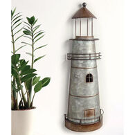 Manual Woodworkers & Weavers Lighthouse Metal Wall Hanging