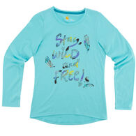 Carhartt Girls' Stay Wild And Free Long-Sleeve T-Shirt