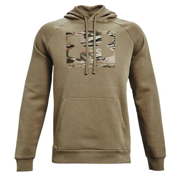 Under Armour Mens UA Rival Fleece Camo Logo Hoodie