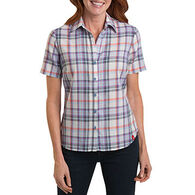 Dickies Women's Plaid Western Short-Sleeve Shirt