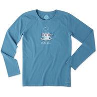 Life is Good Women's Love Mug Long-Sleeve Crusher T-Shirt