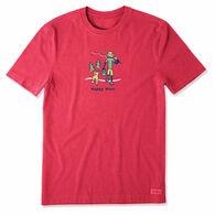 Life is Good Men's Happy Hour Fish Vintage Crusher Short-Sleeve T-Shirt