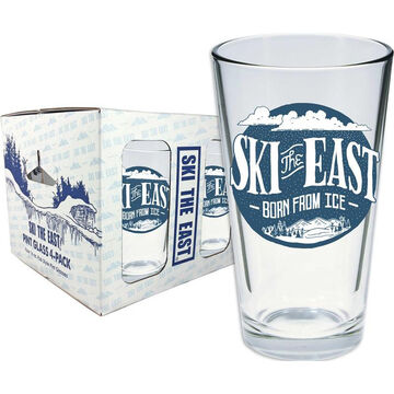 Ski The East Storm Brewing Pint Glass 4-Pack