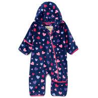 Hatley Infant Girl's Confetti Hearts Fuzzy Fleece Baby Bundler