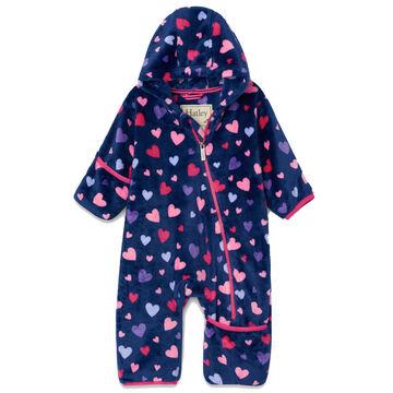 Hatley Infant Girls Confetti Hearts Fuzzy Fleece Baby Bundler