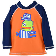 Flap Happy Boy's Graphic Long-Sleeve Rashguard Top