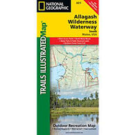 National Geographic Allagsh Wilderness Waterway South Map