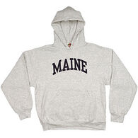 A.M. Men's Maine Arch Design Long-Sleeve Hooded Sweatshirt