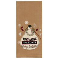 Park Designs Happy Holidays Embroidered Dish Towel