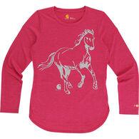 Carhartt Girls' Force Run Free Horse Long-Sleeve T-Shirt