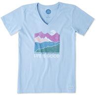 Life is Good Women's Life Isn't Easy Crusher Vee Short-Sleeve T-Shirt