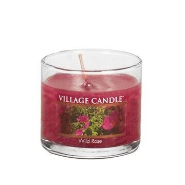 Village Candle Mini Glass Votive Candle - Wild Rose