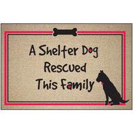 High Cotton Doormat - A Shelter Dog