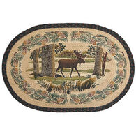 Capital Earth Oval Moose In Woods Braided Rug