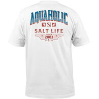 Salt Life Men's Aquaholic Icons Pocket Short-Sleeve T-Shirt