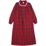 "Lanz Women's 50"" Peter Pan Collar Flannel Nightgown"