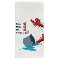 Park Designs Lobster Pail Embroidered Dish Towel