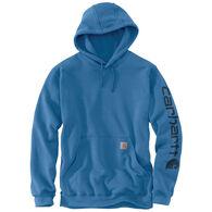 Carhartt Men's Big & Tall Midweight Hooded Logo-Sleeve Sweatshirt