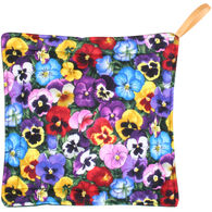Maine Balsam Fir Purple & Yellow Pansies Trivet