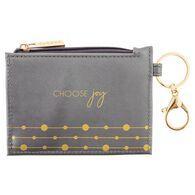 Karma Women's Charcoal Shimmer Zip ID Holder