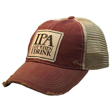 Vintage Life Womens IPA Lot When I Drink Distressed Trucker Hat