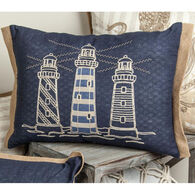 Manual Woodworkers & Weavers Embroidered Lighthouse Pillow