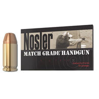 Nosler Match Grade 40 Smith & Wesson 150 Grain JHP Handgun Ammo (50)