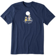 Life is Good Men's Jake and Rocket Moon Tie Dye Vintage Crusher Short-Sleeve T-Shirt