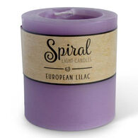 Spiral Light Small Candle - European Lilac