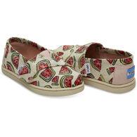 TOMS Toddler Girl's Tiny Alpargata Slip-On Shoe