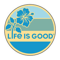 Life is Good Hibiscus Sun Magnet