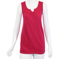 North River Women's Cotton Slub Jersey Split Crew Sleeveless Shirt