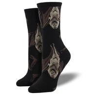 Socksmith Design Women's Going Batty Crew Sock