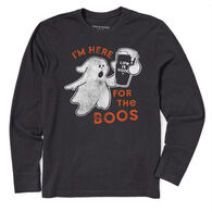 Life is Good Men's Here for the Boos Crusher Long-Sleeve T-Shirt