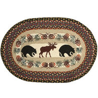 Capitol Earth Bear & Moose Oval Patch Braided Rug
