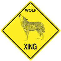KC Creations Wolf XING Sign