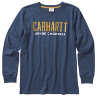 Carhartt Boy's Heather Graphic Long-Sleeve Shirt