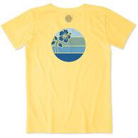 Life is Good Women's Hibiscus Sun Crusher Short-Sleeve T-Shirt