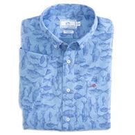 Southern Tide Men's Iwa Fish Print Button Down Short-Sleeve Shirt