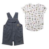Carhartt Toddler Girl's Sunflower Shortall Set, 2-Piece
