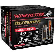 Winchester Defender 410 GA / 45 Colt 225 Grain Bonded JHP Ammo Combo Pack (20)