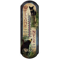 Rivers Edge Welcome Bears Tin Thermometer
