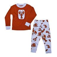 Lazy One Toddler Boys' & Girls' Lobster PJ Set