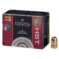 Federal Premium Personal Defense 380 Auto (9x17mm Short) Micro 99 Grain HST JHP Handgun Ammo (20)