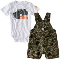 Carhartt Infant/Toddler Boys' Trail Monster Shortall Set, 2pc