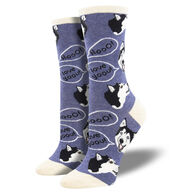 Socksmith Design Women's Howling For You Crew Sock