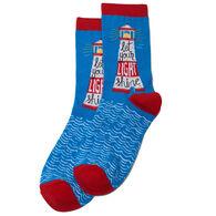 Hatley Little Blue House Women's Lighthouse Crew Sock