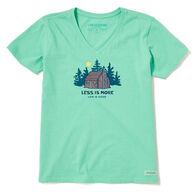 Life is Good Women's Less is More Cabin Crusher-Lite Vee Short-Sleeve T-Shirt